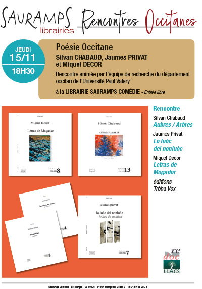 Calendrier Paul Valery.Sauramps Comedie Rencontres Occitanes