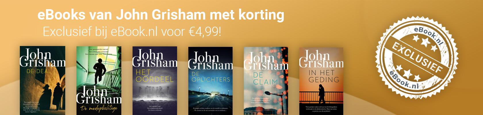 John Grisham exclusief bij eBook.nl