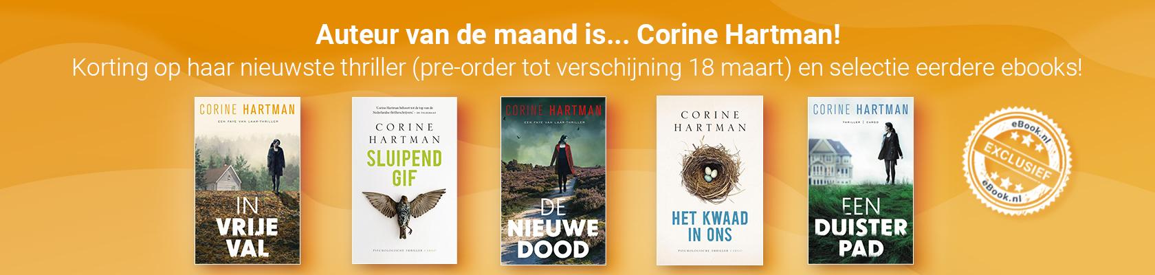 Auteur van de maand Corine Hartman