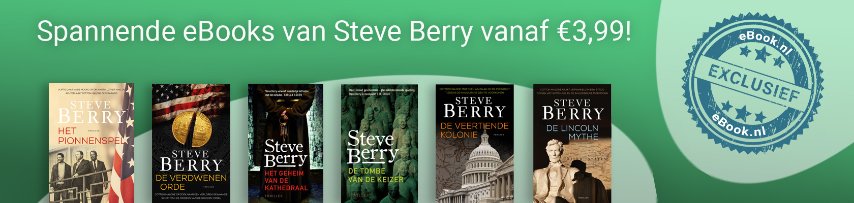 Spannende eBooks van Steve Berry