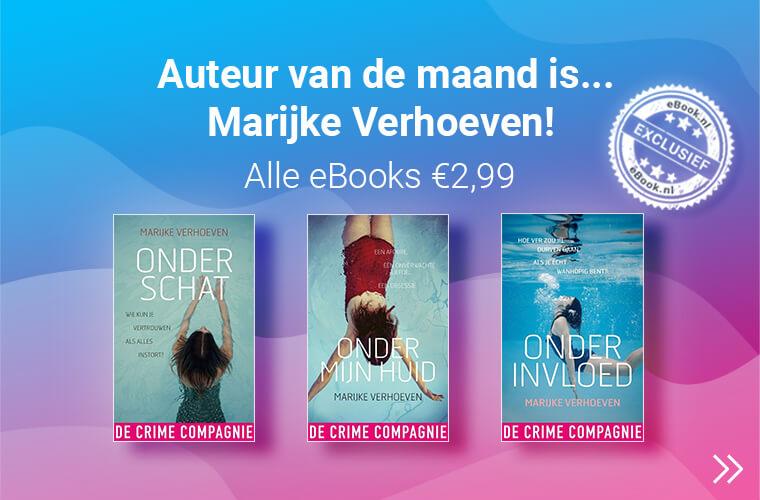Auteur van de maand is Marijke verhoeven al haar titels nu voor 2,99