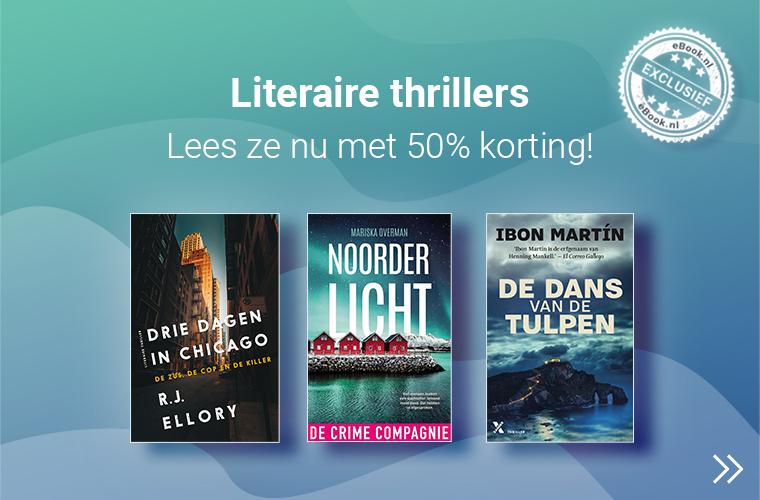 literaire thrillers met 50% korting!