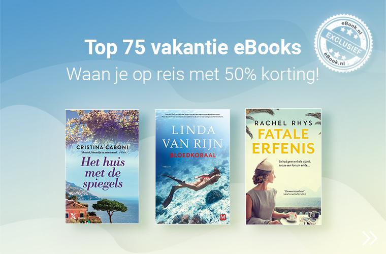 top 75 vakantie ebooks met 50% korting