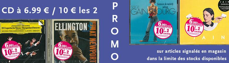 Promo sur les CD