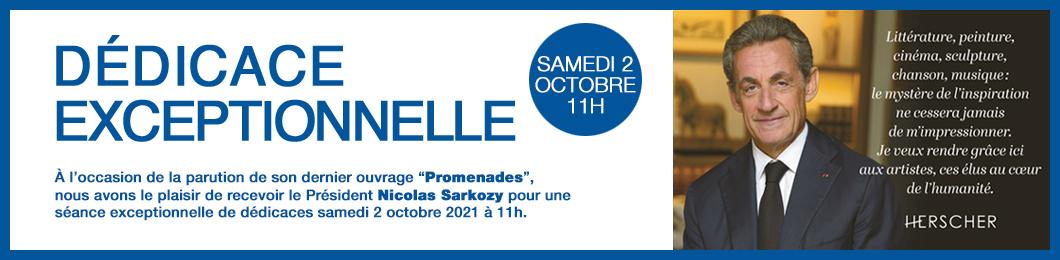 Dédicace de Nicolas Sarkozy