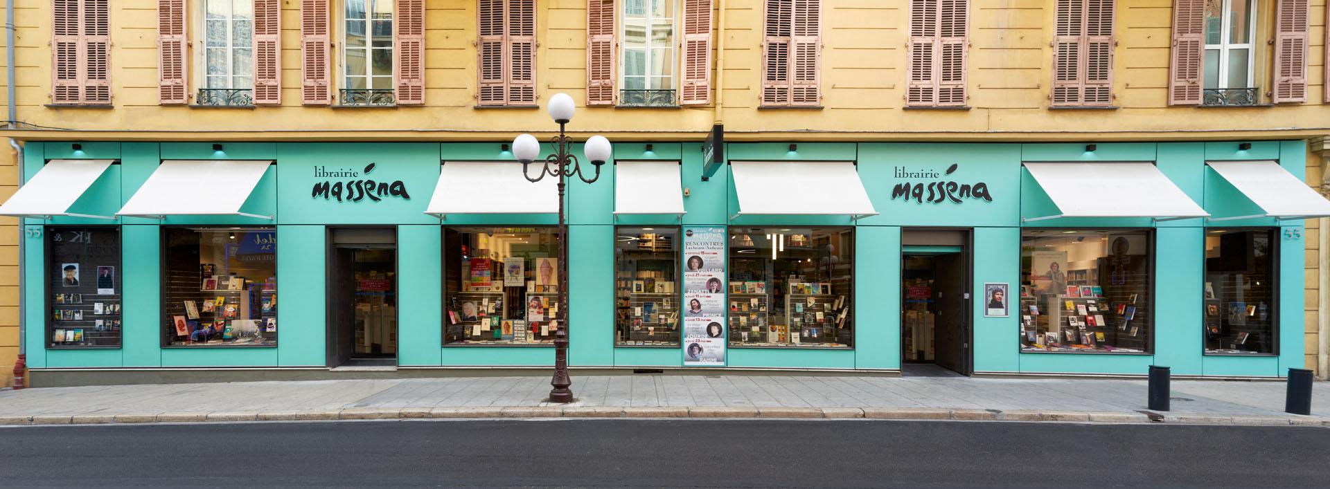 la vitrine de la librairie