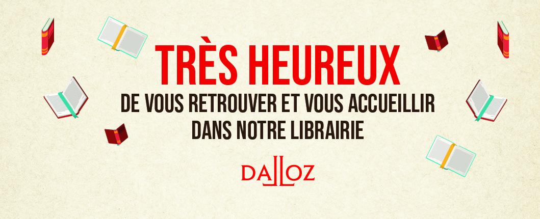 Réouverture librairie Dalloz