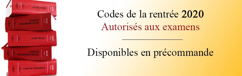 Précommandes codes 2020