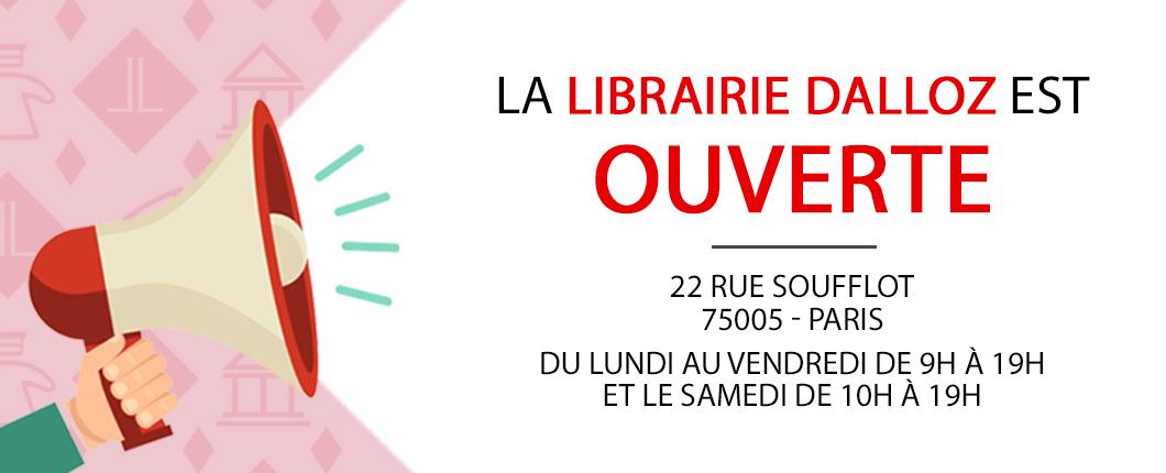 La libraire Dalloz est ouverte