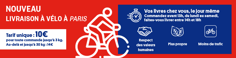 Vos livres chez vous dans la journée grâce à la livraison à vélo