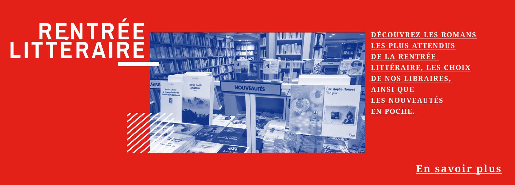 Rentrée littéraire 2019 à la librairie de Paris