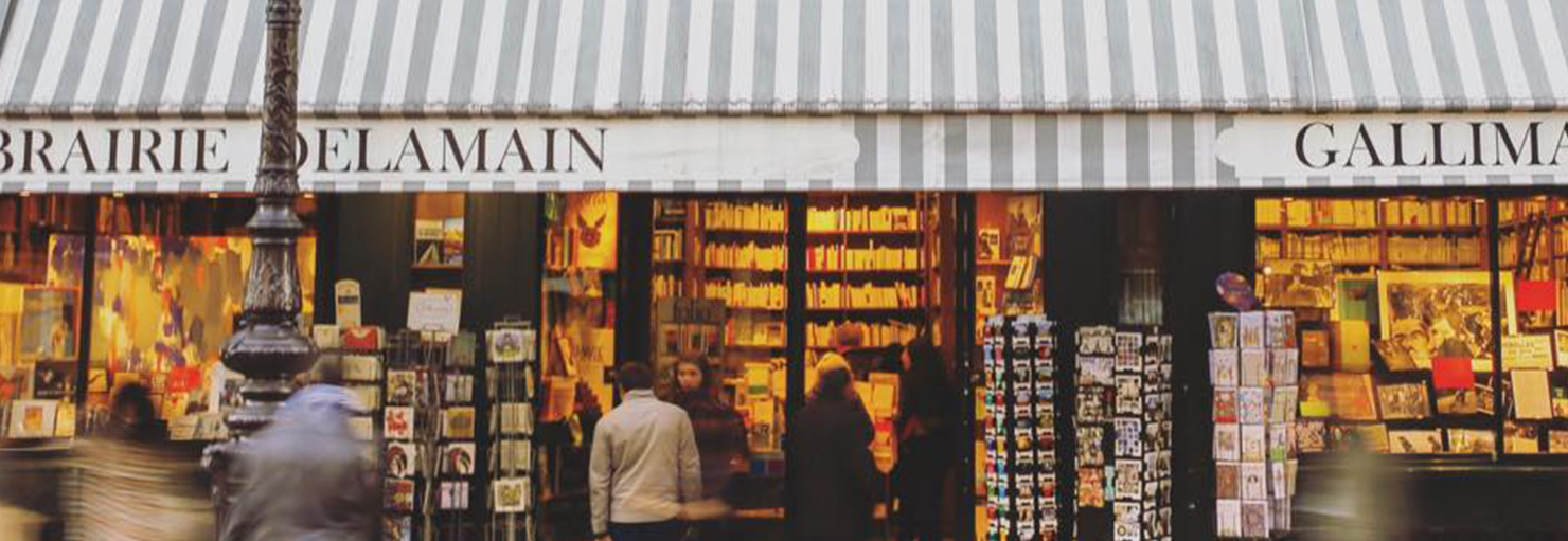 Extérieur de la librairie Delamain