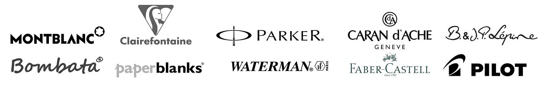 Marques distribuées dans notre magasin : Montblanc, Bombata, Clairefontaine, Parker, Waterman, Caran d'Ache, Faber Castell, Jean-Pierre Lépine, Pilot