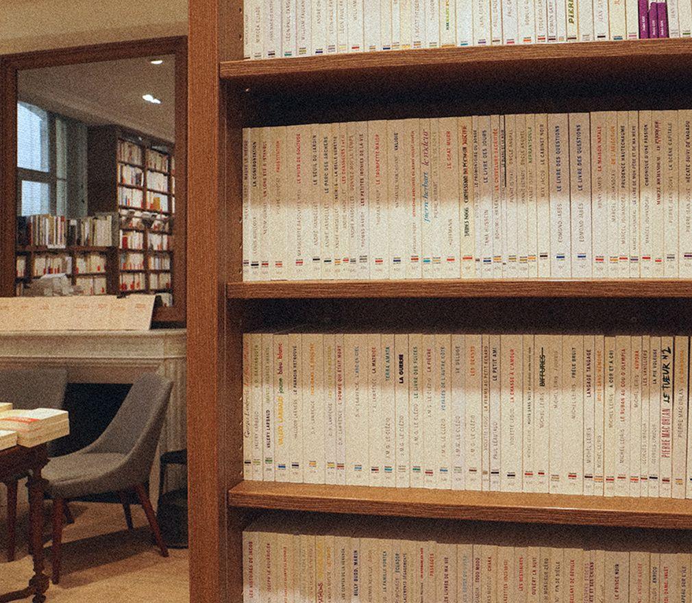 Collection l'imaginaire et cheminée librairie Gallimard