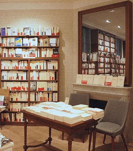 Rencontre auteurs autour de la cheminée de la librairie Gallimard