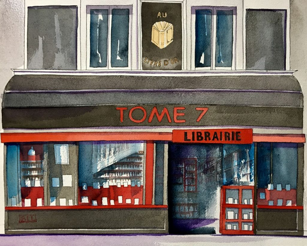 Librairie Tome 7 Paris - illustration de Brigitte Lannaud Levy