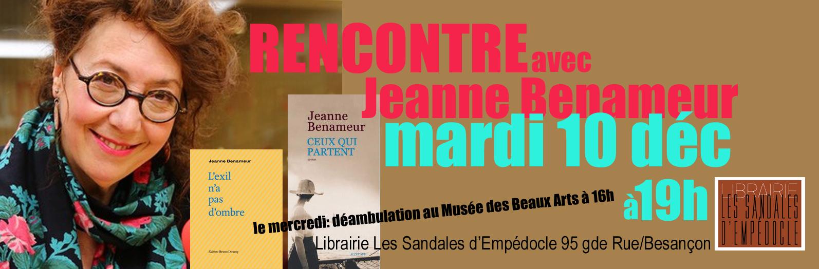 Jeanne Benameur revient...
