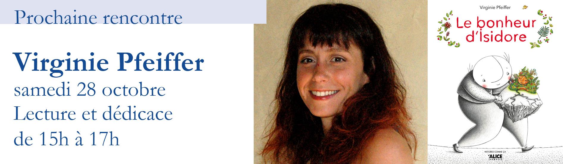 Lecture et dédicace avec Virginie Pfeiffer