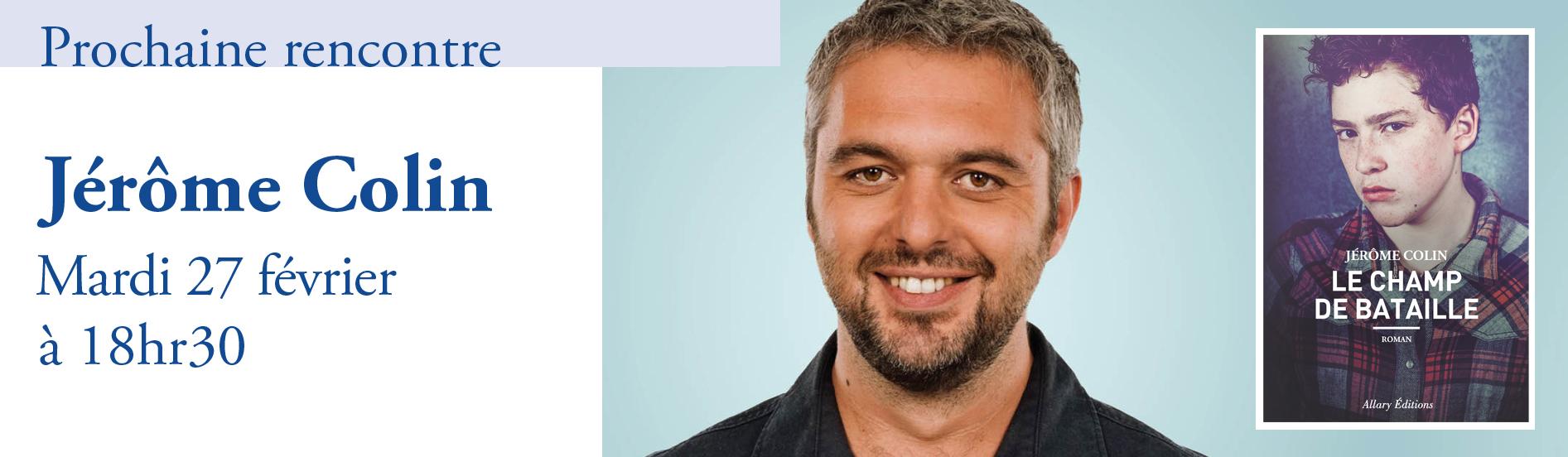 Rencontre avec Jérôme Colin