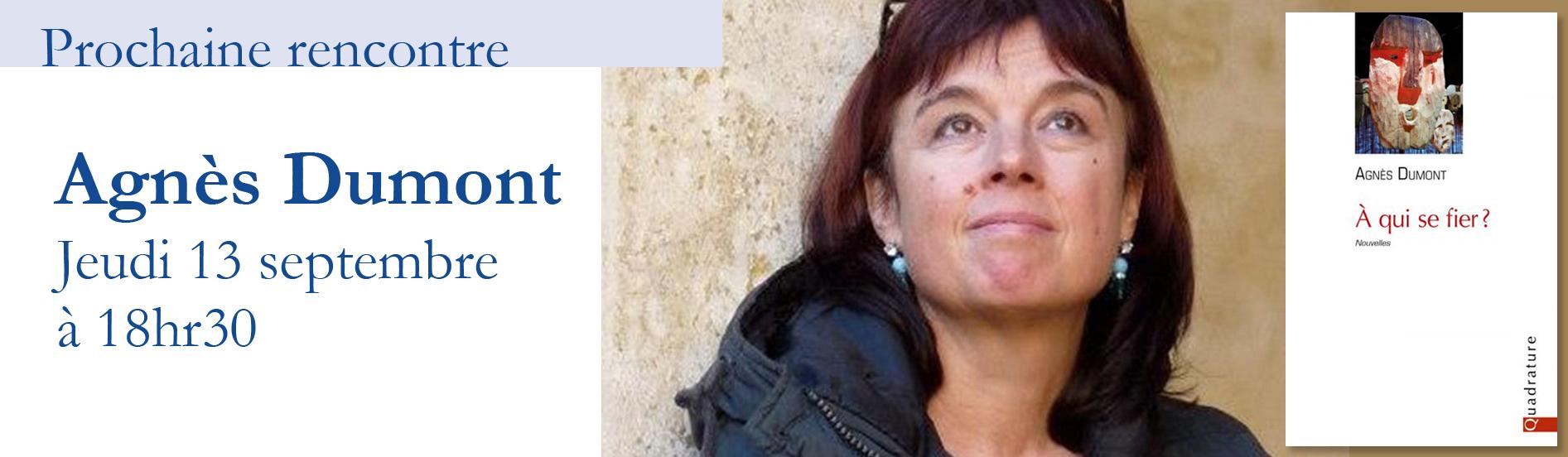 Rencontre avec Agnès Dumont