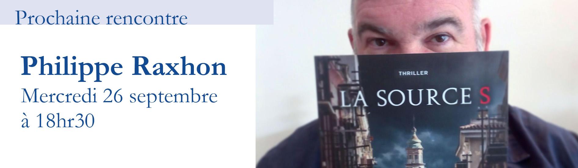 Rencontre avec Philippe Raxhon