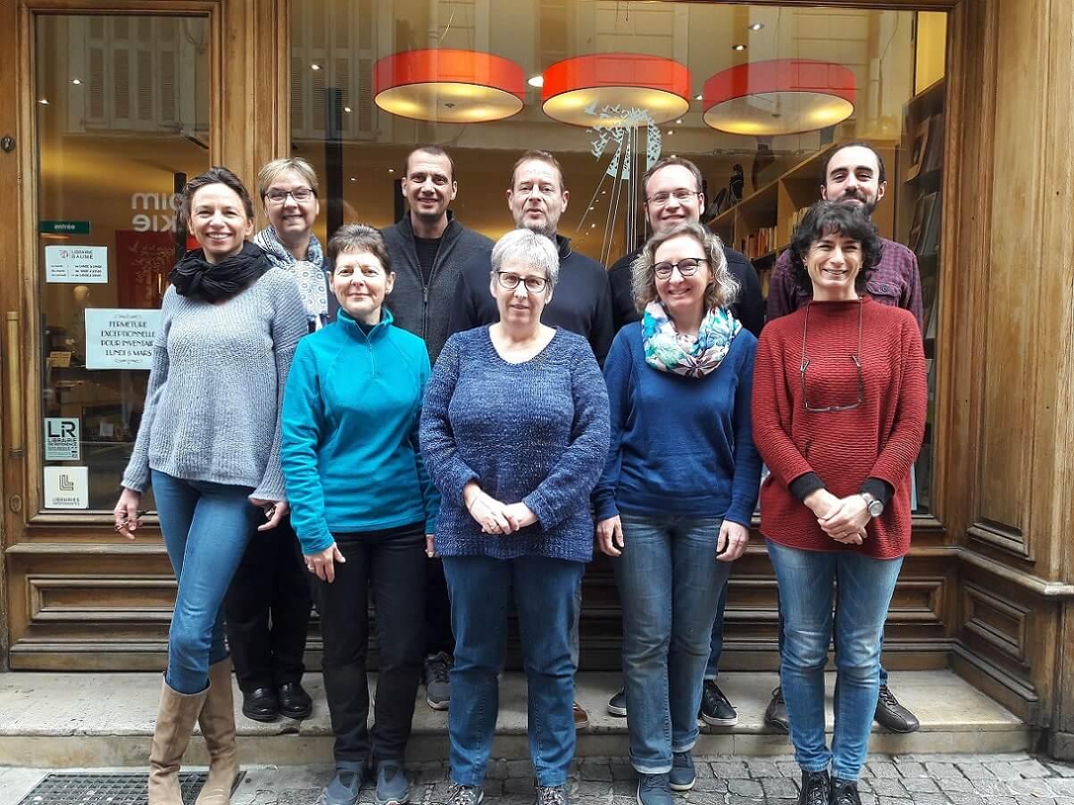 De gauche à droite: Diane, Noëlle, Cathy, Didier, Isabelle, Ferdinand, Sophie, François, Cécile et Florentin.
