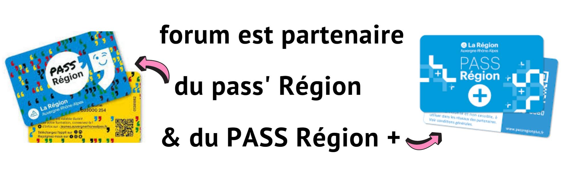 forum partenaire du pass' région et du pass région +