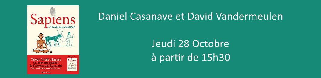 Daniel Casanave et David Vandermeulen en dédicace