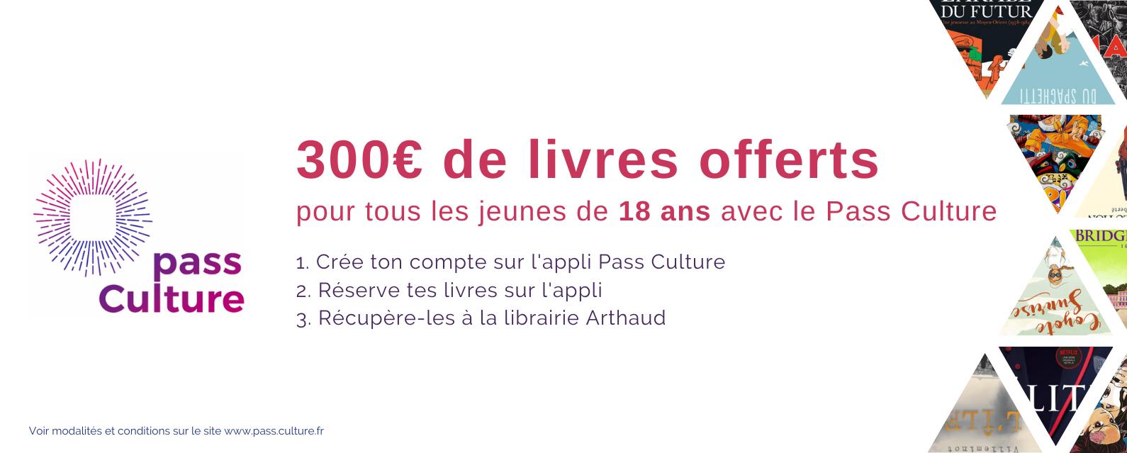 Pass Culture à la librairie Arthaud