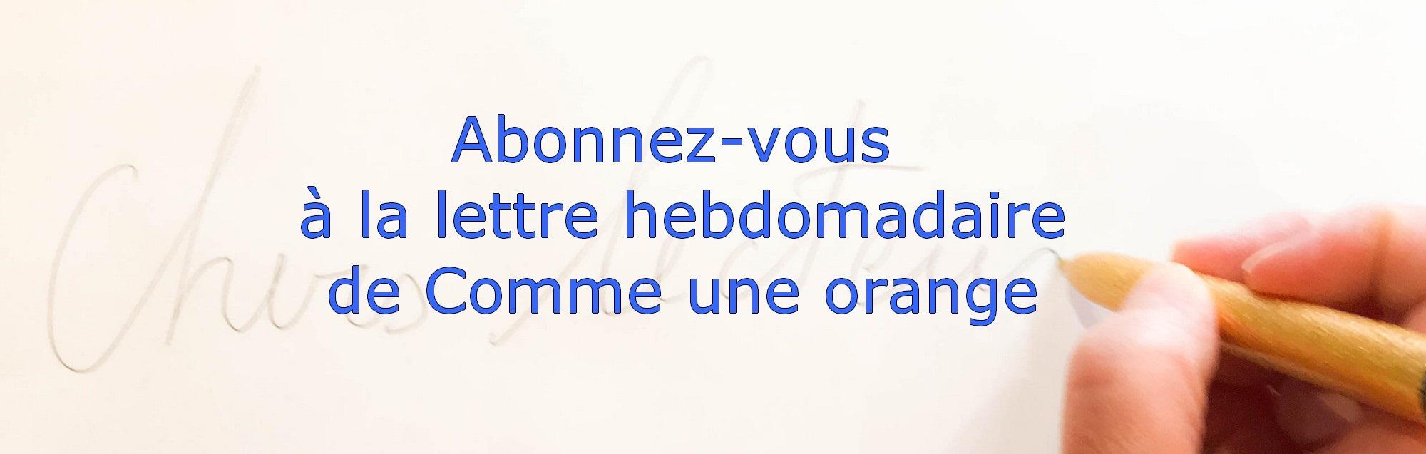 Abonnement newsletter de Comme une orange - librairie paris 17