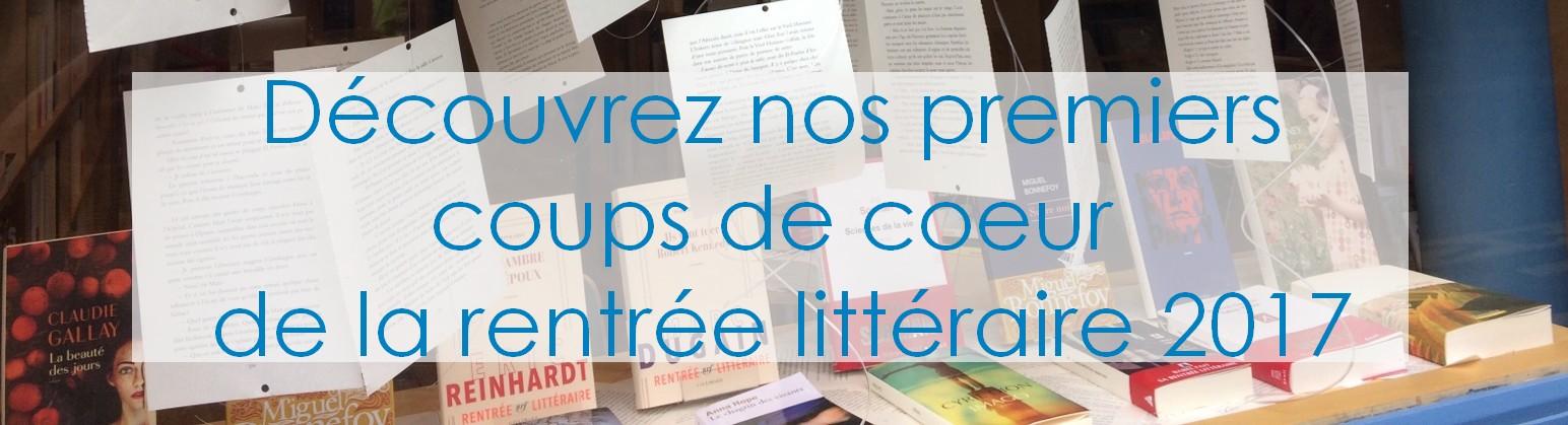 Rentrée littéraire - Librairie quartier Terne Maillot Champerret Pereire