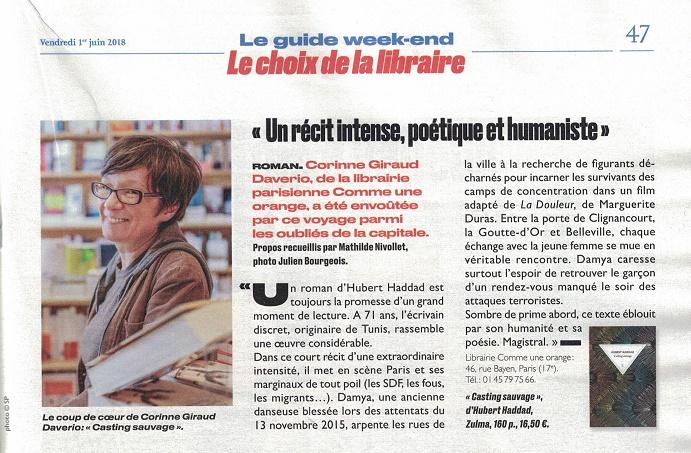 Corinne Giraud Daverio Libraire Paris 17ème dans le Parisien