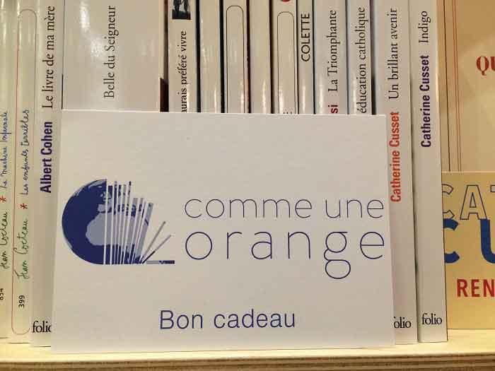 Chèques cadeaux Comme une orange à convertir en livres