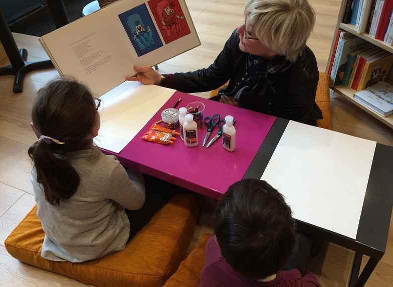 Atelier pour les enfants à la librairie Comme une orange