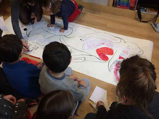 Atelier illustration avec les enfants et Anaïs Vaugelade