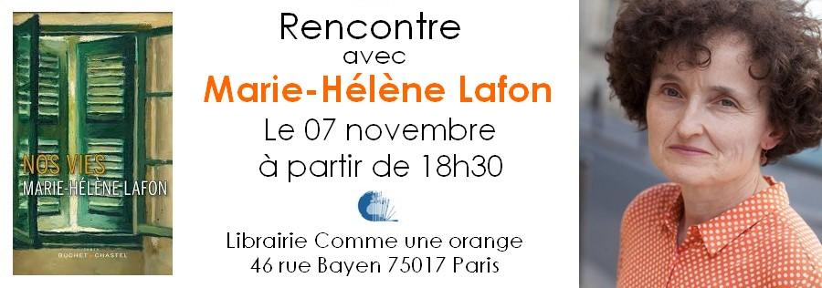 Marie-Hélène Lafon en dédicace Librairie Comme une orange