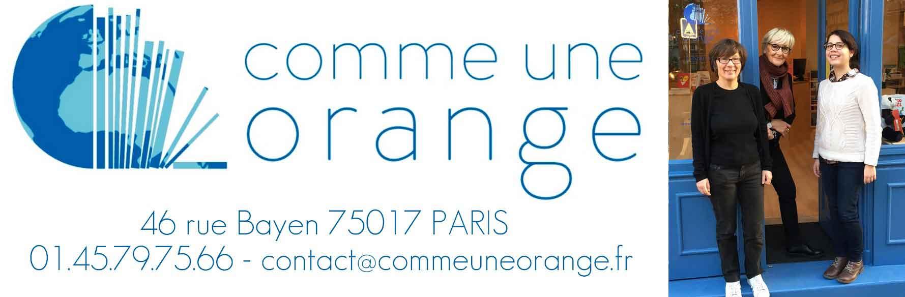 Librairie Comme une orange paris 17 - Equipe