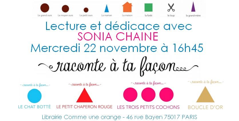 Lecture Dédicace Sonia Chaine Raconte à ta façon