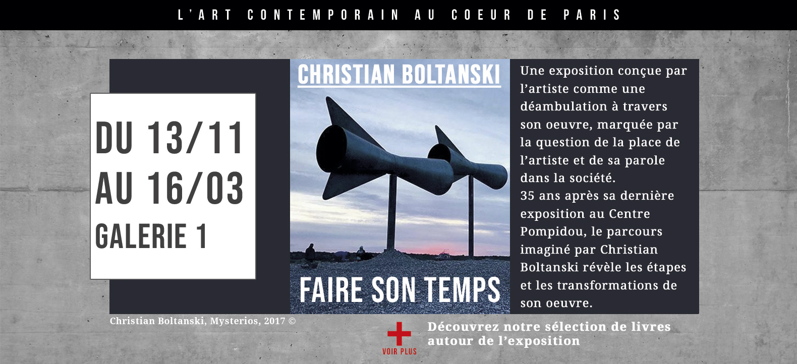 Christian Boltanski, Faire son temps