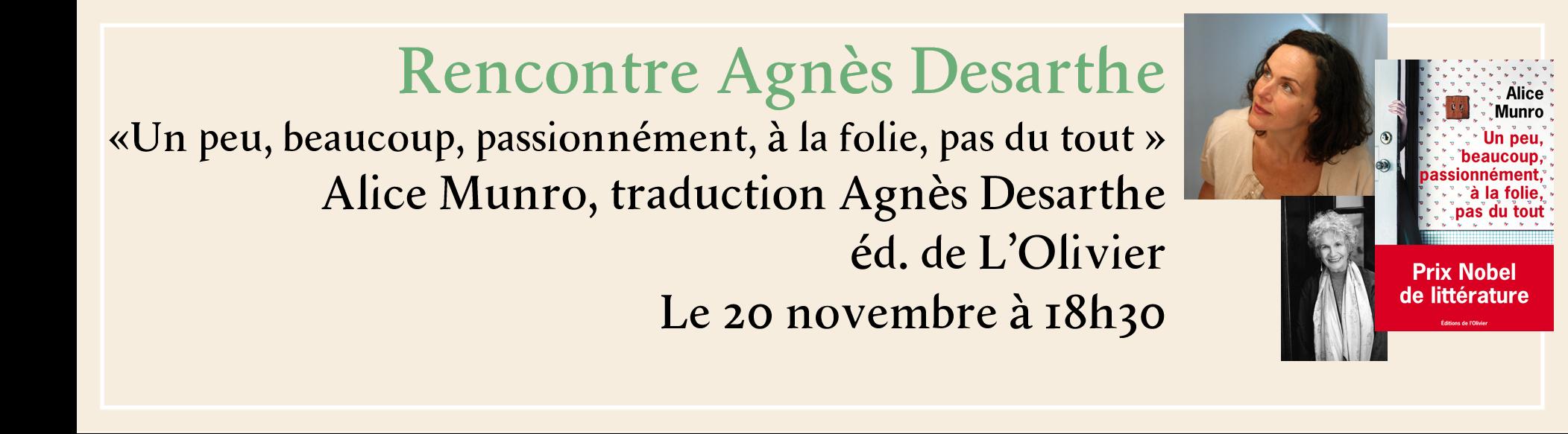 Rencontre Agnès Desarthe