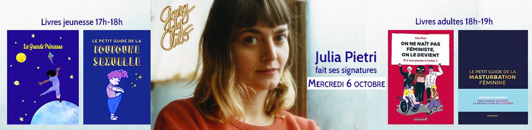 Julia Pietri le 6 octobre