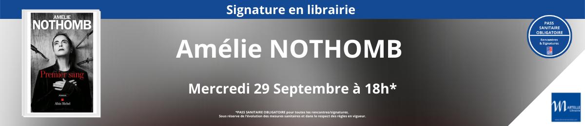 Signature d'Amélie NOTHOMB
