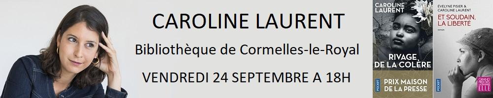 Caroline Laurent à la bibliothèque de Cormelles-le-Royal