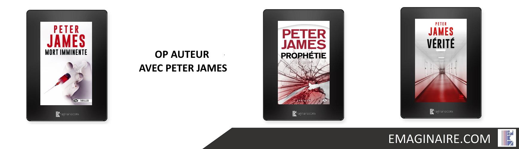 OP AUTEUR AVEC PETER JAMES