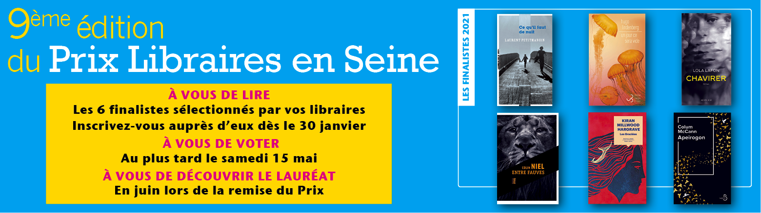 prix Libraires en Seine 2021 - Devenez jurés!
