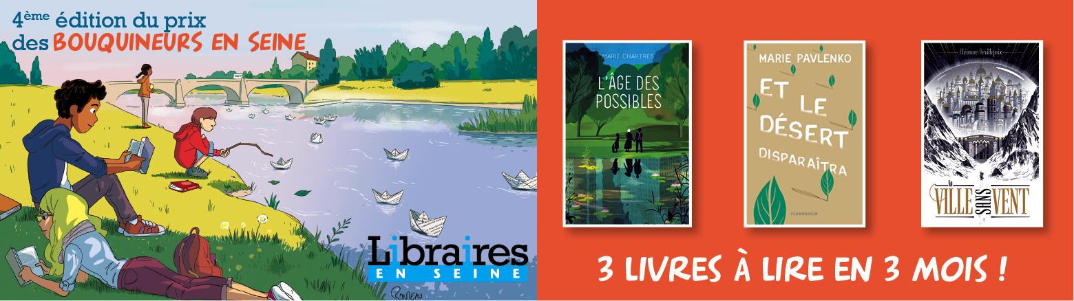 Prix des Bouquineurs en Seine (12 ans et +) - Devenez jurés !