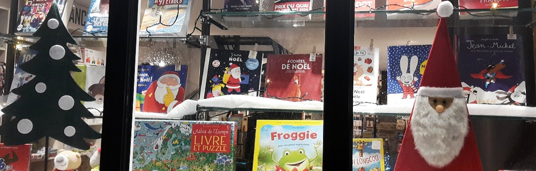 La magie de Noël à la librairie....