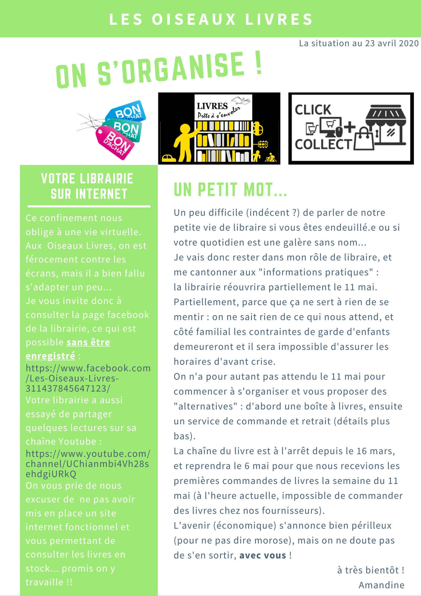 Newsletter d'avril 2020