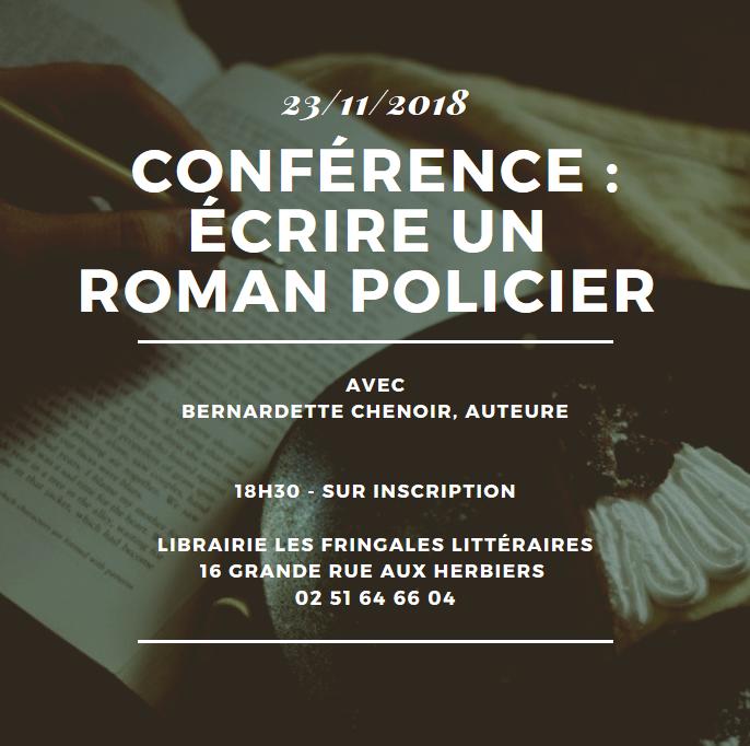 c3b4b624036 Les Fringales littéraires - Librairie Les Fringales Littéraires    conférence - écrire un roman policier