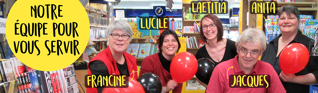 Présentation de l'équipe de la librairie